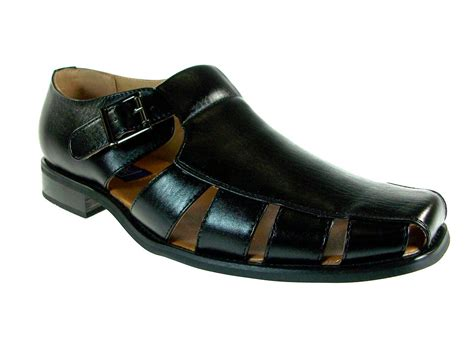mens closed toe leather dress sandals mens closed toe casual dress shoe sandals w leather