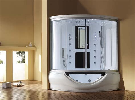 bathtub steam shower combo 59 quot eagle bath m a6012 steam shower enclosure w whirlpool bathtub combo unit
