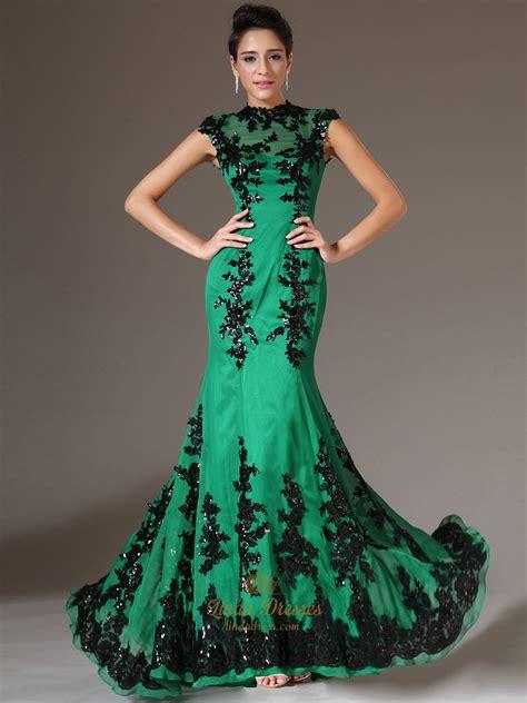 P156 L Dress Lace Green green mermaid dress wedding dress