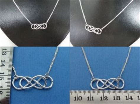 o times infinity infinity times infinity silver necklace