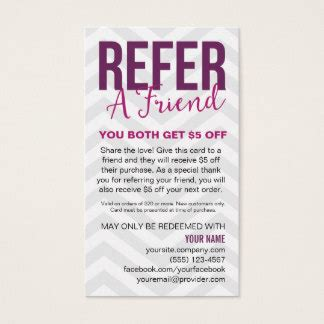 refer a friend card template free jamberry office supplies stationery zazzle au