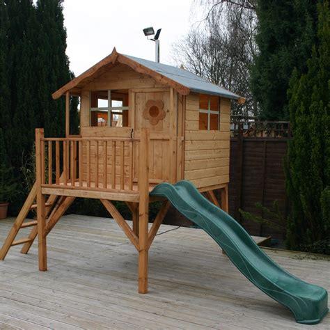 wooden backyard playhouse 7 x 5 waltons honeypot poppy tower wooden playhouse with