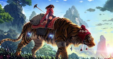 women fantasy tigers wallpapers hd desktop  mobile
