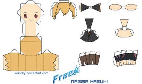 Nagisa Hazuki Free Papercraft By Kokioky On Deviantart