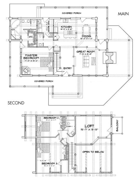 caribou log home floor plan by precision craft rivermill hybrid log and timber home floor plan