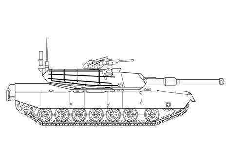 tiger tank coloring page malvorlage abrams panzer ausmalbild 10142