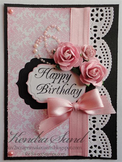 2 scrap n make cards vintage shabby chic with ss