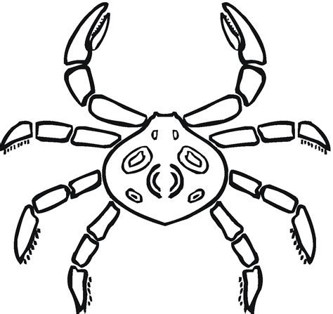 Free Printable Crab Coloring Pages For Kids Coloring Pages For Kid