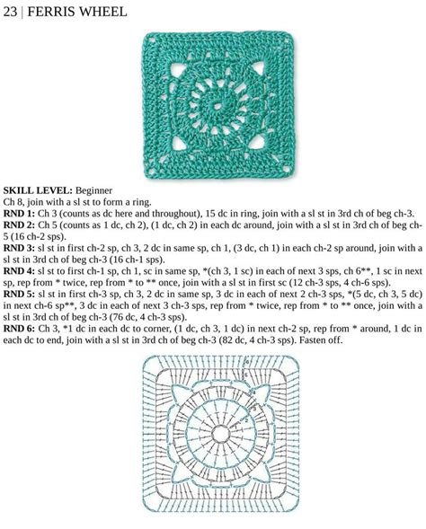 crochet squares ii images  pinterest