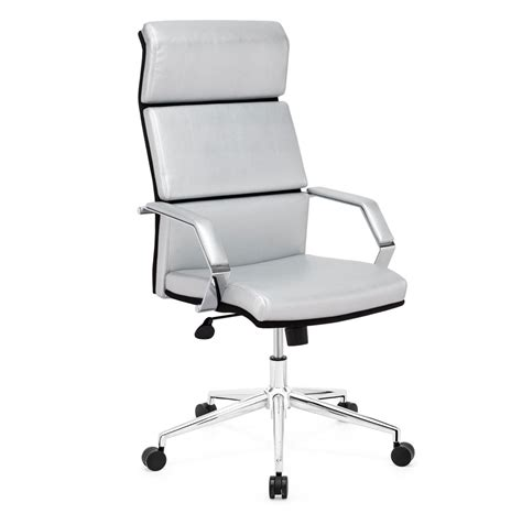 Silver Desk Chair by Stylish Silver Leatherette Office Chair Z 312 Office Chairs