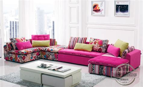u best colorful fabric sectional sofa set fashion living