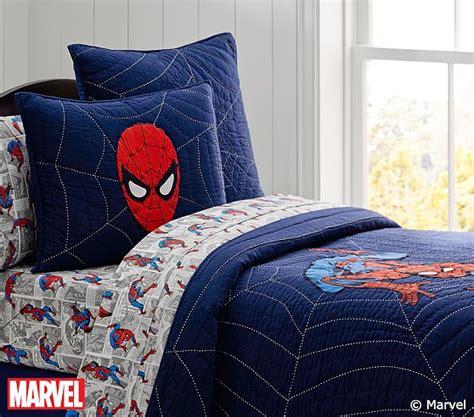 spider bedding spider man quilt pottery barn kids
