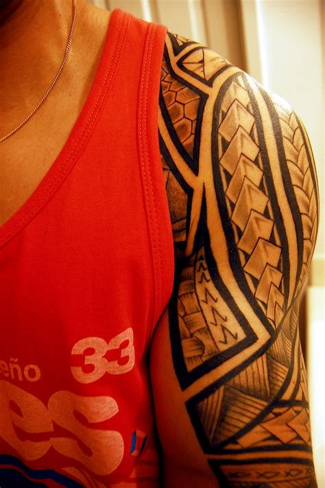 tribal tattoos arm shoulder tribal tribal half sleeve on