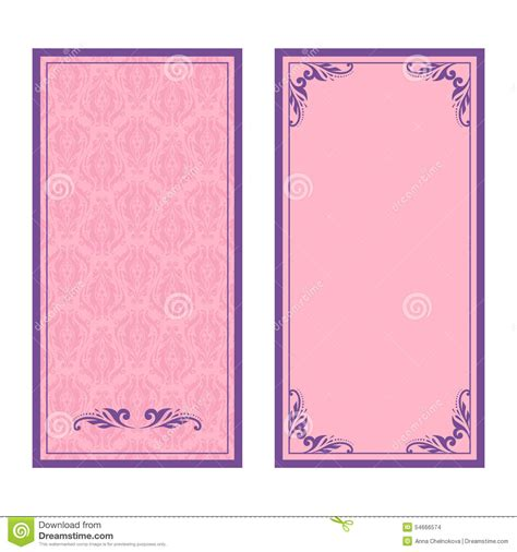 card frame template 2x2 vector set of floral decorative background stock vector