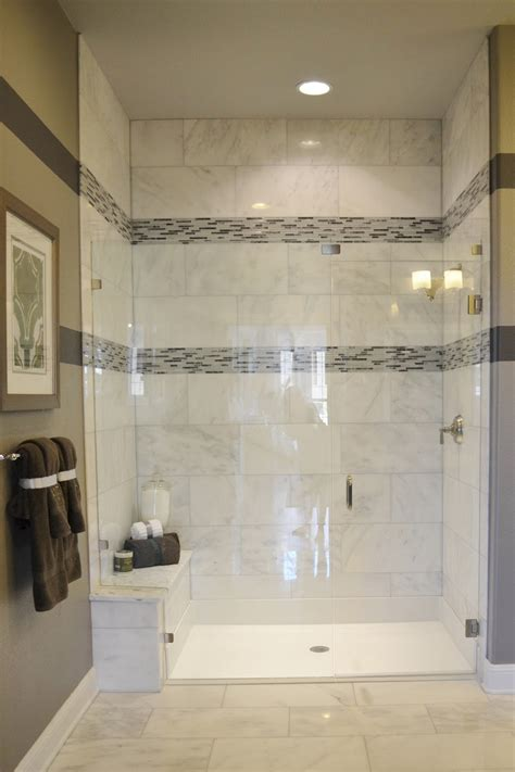 Natural Stone Wall And Floor Tiled Bathroom Tub Shower