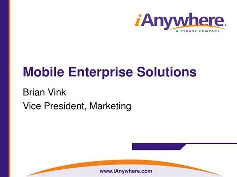 mobile enterprise solutions ppt mobile enterprise solutions powerpoint presentation