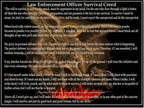 enforcement officer survival creed news and
