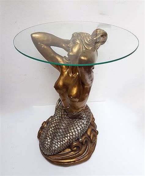 mermaid table mermaid table with glass top 1960 s 1970 s catawiki