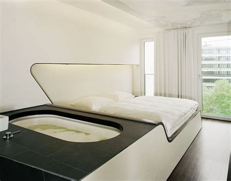bathtub bed bed with built in hot tub cool furniture pinterest