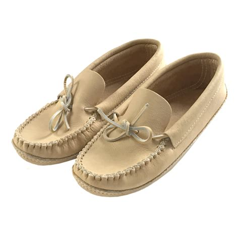 Handmade Moccasins Canada - s soft sole genuine moosehide leather authentic