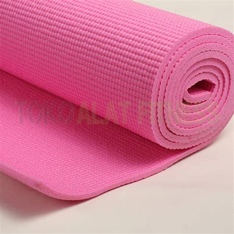 Best Seller Matras Olahraga Mat Fitness Free Sarung Mat Pvc 4mm Pink Toko Alat Fitness