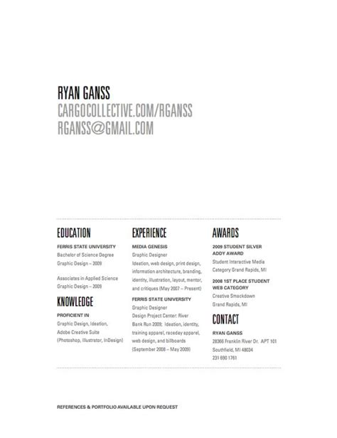 resume white space resume ideas