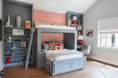 boy loft bed custom boys bunk bed fresh faces of design hgtv