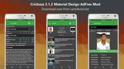 modded apps apk cricbuzz mod apk 3 1 3 adfree material design app android