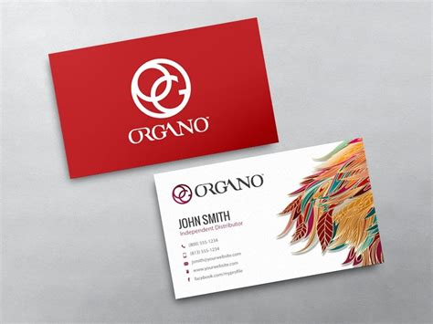 organo gold business card template organo gold business card 14