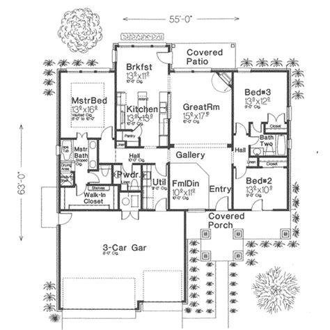 1900 house plans traditional style house plan 3 beds 2 5 baths 1900 sq ft