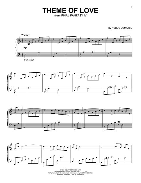 Theme Songs Love | theme of love sheet music direct