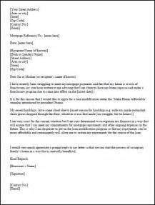 Mortgage Letter Templates Hardship Letter Template For A Loan Modification Request