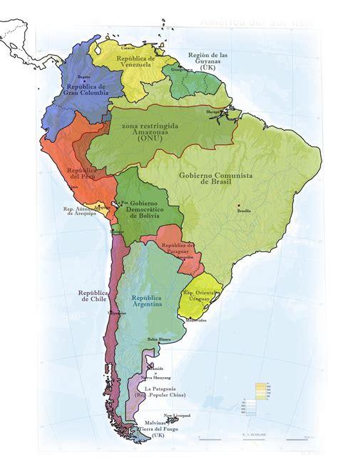 imagenes sudamerica mapa de sudamerica en el a 241 o 2100 te lo muestro