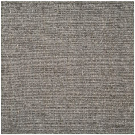 4 ft area rugs safavieh fiber light gray 4 ft x 4 ft square area rug nf447g 4sq the home depot