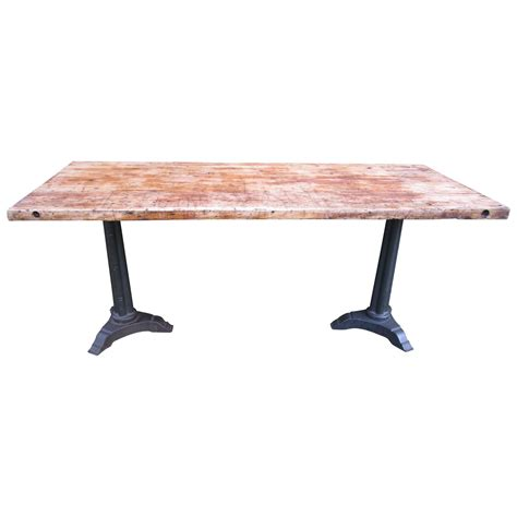 butcher block dining room table butcher block dining table at 1stdibs