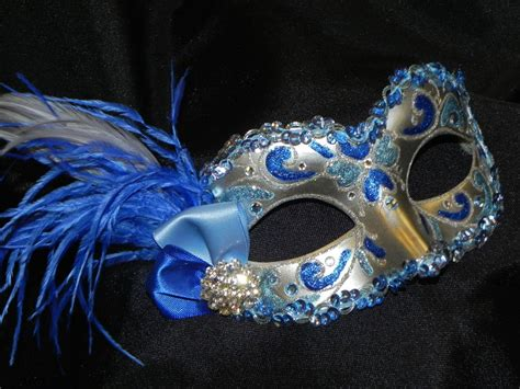 light blue masquerade masks feather masquerade mask in light blue royal blue and silver
