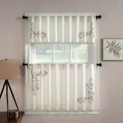 Contemporary Kitchen Curtains And Valances Chf Industries Scroll Leaf Tailored Tiered Kitchen Curtain One Pair Modern Curtains By