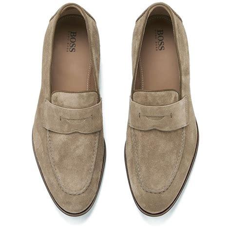 hugo suede loafers hugo s stedeo suede loafers medium beige