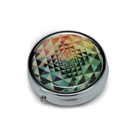 pill box pill decorative kaleidoscope green by