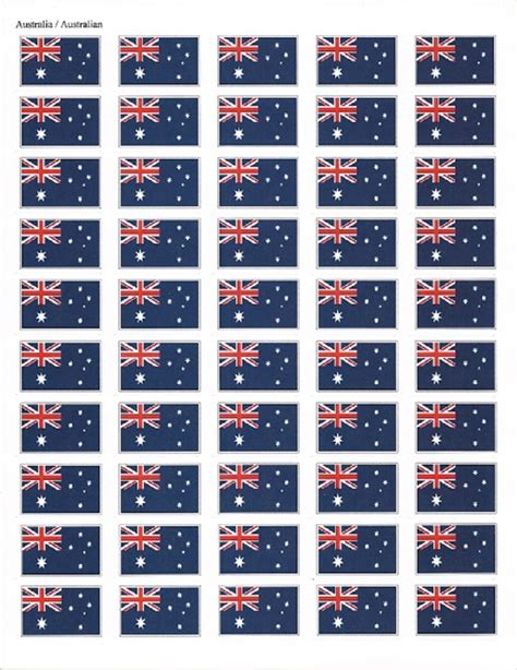 world country flag waterproof stickers polyester