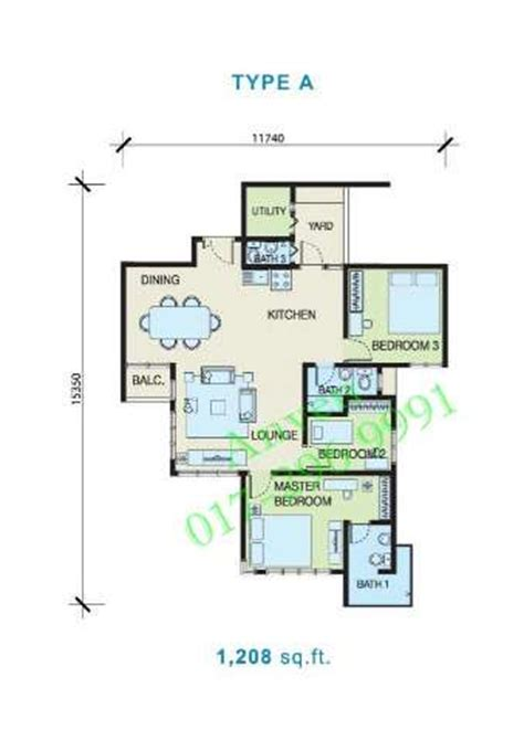 1 Desa Residence Floor Plan by Condominium For Sale In Desa Residency Kuchai Lama For Rm