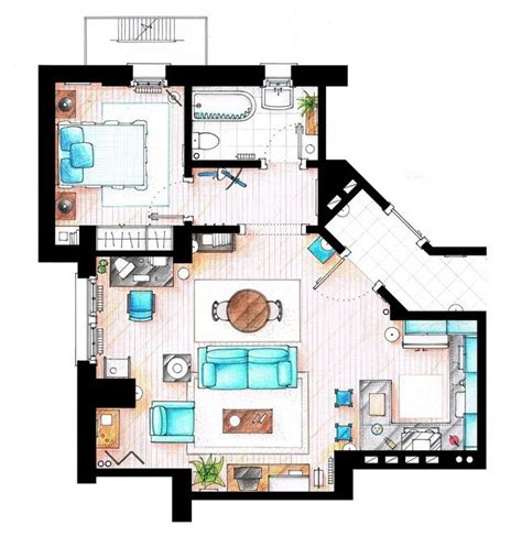 tv show apartment floor plans 17 best images about tv show floor plans on pinterest