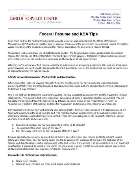 Usajobs Resume Advice Usa Resume Builder Resume Builder
