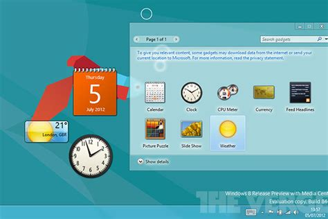 Gadget Microsoft microsoft reportedly killing desktop gadget support in windows 8 the verge