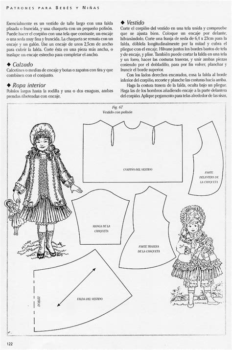 clothes pattern in spanish doll dresses patterns and jackets on pinterest