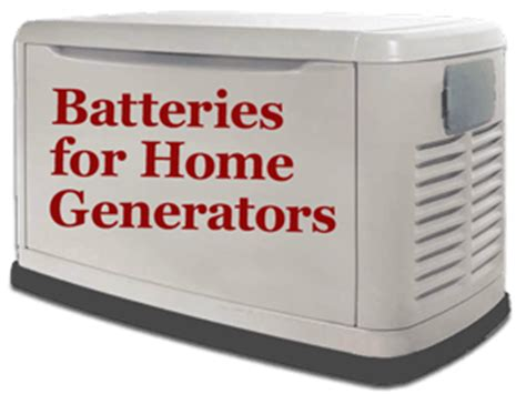 home generator replacement batteries