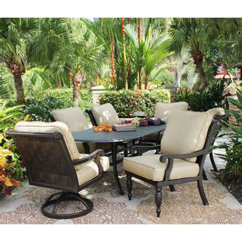 villa 7 cushioned patio dining set 187 welcome to