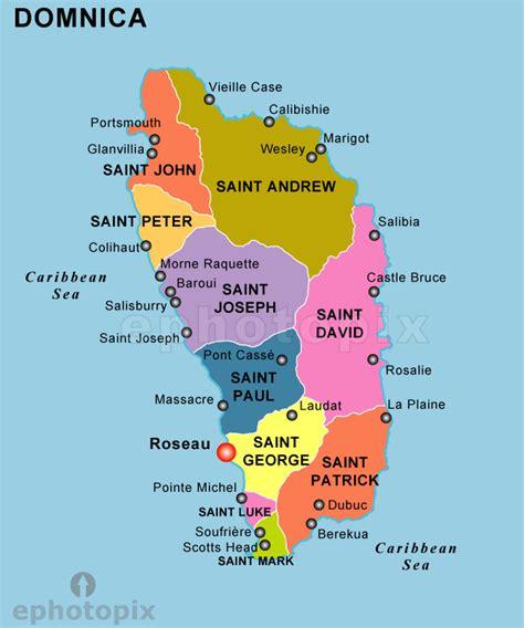 dominica on a map dominica politische karte