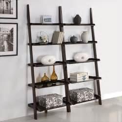 Leaning bookshelf elegant ladder bookcases