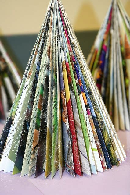 magazine christmas trees craft stuff pinterest